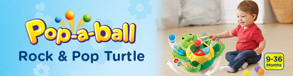 Pop-a-Ball Rock & Pop Turtle
