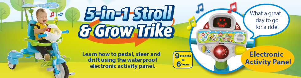 5-in-1 Stroll and Grow Trike