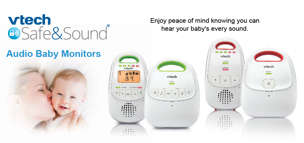 Baby monitors. Vtech safe&sound. Enjoy peace of mind knowing you can hear your baby's every sound