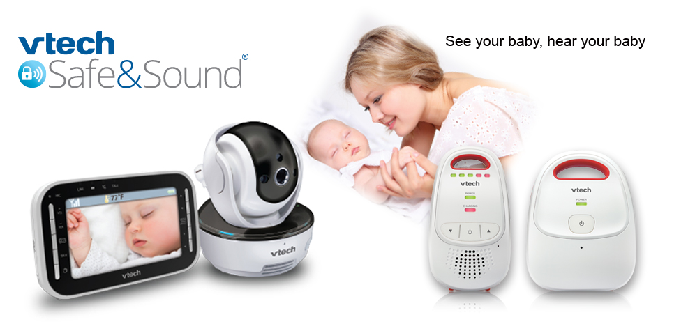 Baby monitors. Vtech safe&sound. Keep your little one front and center, day or night.