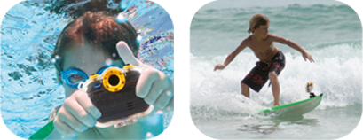 Water Activities - Comes with waterproof case and mounts