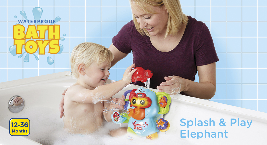 Waterproof Bath Toys. Splash & Play Elephant. 12-36 Months.