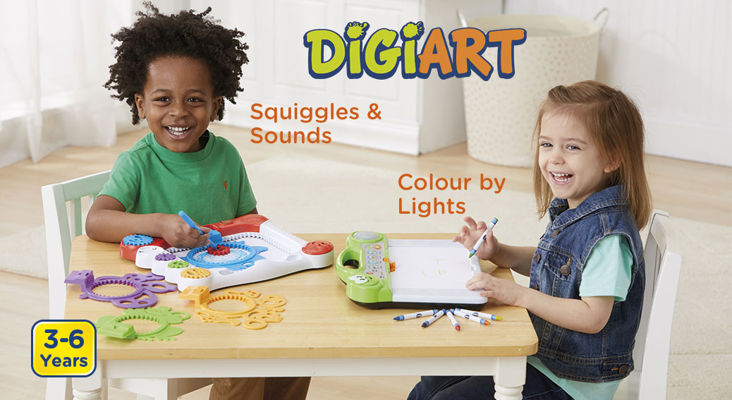 DigiArt. Squiggles & Sounds. Colour by Lights. 3-6 Years.