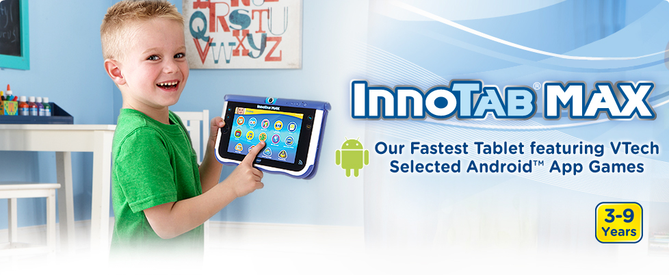 InnoTab Max Tablet featuring VTech Selected Android App Games