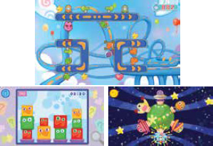 Learning games in Kidicom Max