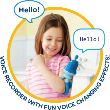 Hello! Hello! Voice recorder with fun voice changing effects!