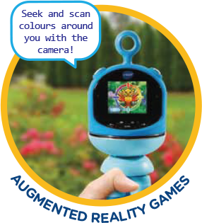 Seek and scan colours around you with the camera! Augmented reality games