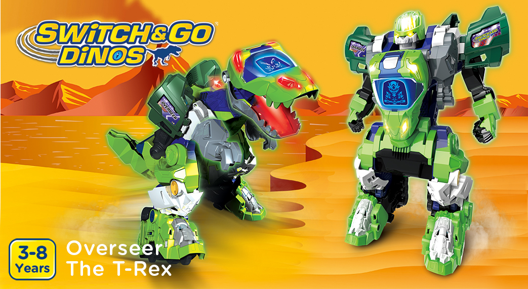 Switch&Go Dinos. Dash The T-Rex. 3-8 Years.