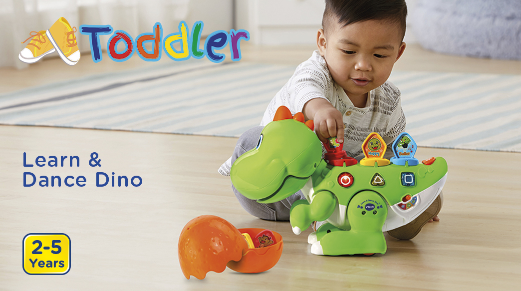 Toddler. Learn & Dance Dino. 2-5 Years